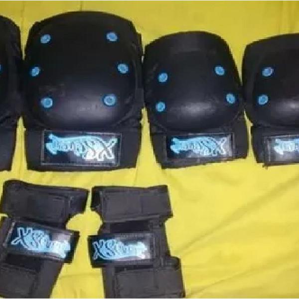 Kit proteção para skate/patins x-seven