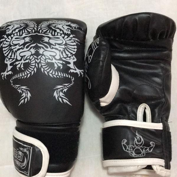 Luva boxe preta
