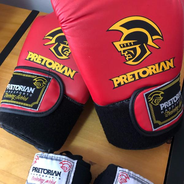 Luva boxe/muay thai pretorian nova