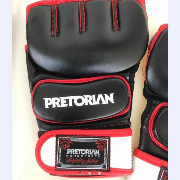 Luva mma pretorian pro series preta/vermelha tamanho g