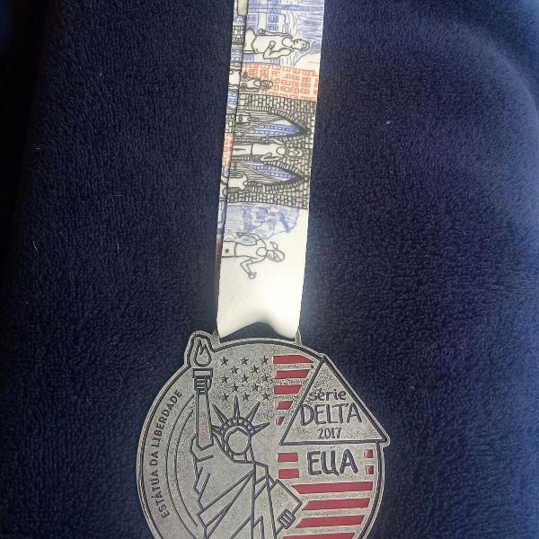 Medalha de corrida de rua da série delta - etapa eua