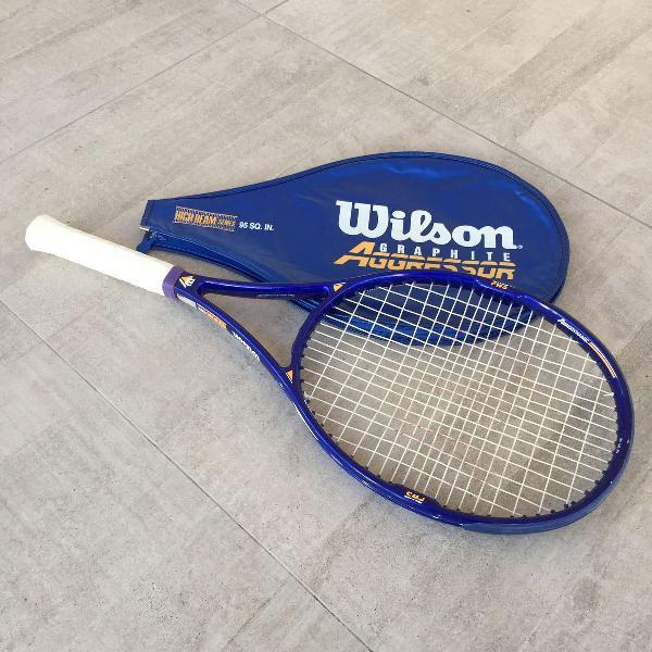 Raquete de tênis wilson graphite aggressor high beam series