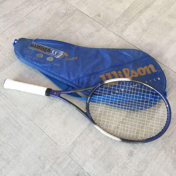 Raquete de tênis wilson hammer 5.5 stretch spin cross