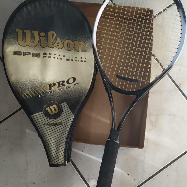 Raquete tênis wilson sps pro court oversize c/capa original