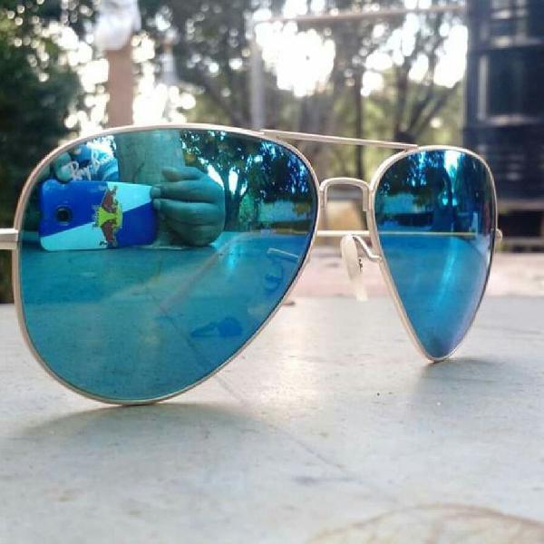 rayban aviador 3026 azul espelhado lentes cristal