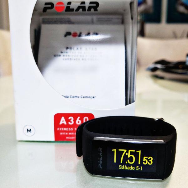 Relógio corrida polar a360 gps bluetooth