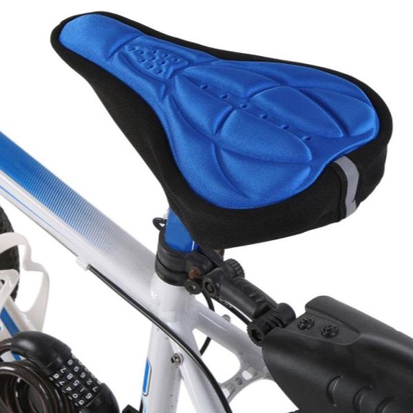 Selim de bicicleta confortável silicone gel