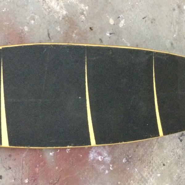 Skate long board flying