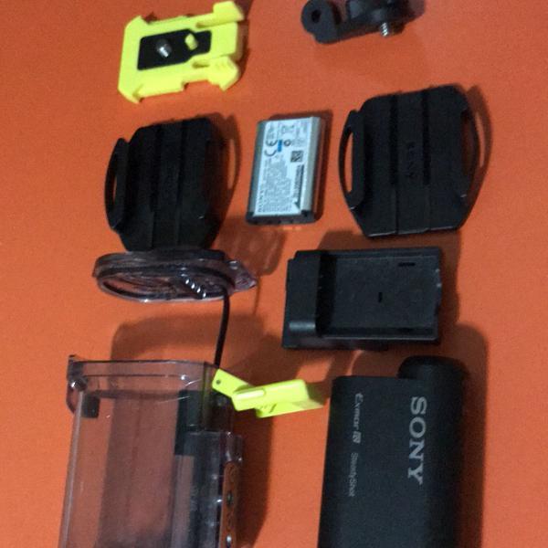 Sony action cam + acessórios