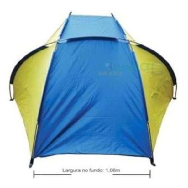 Tenda de praia belfix c/ proteção solar - azul/amarelo