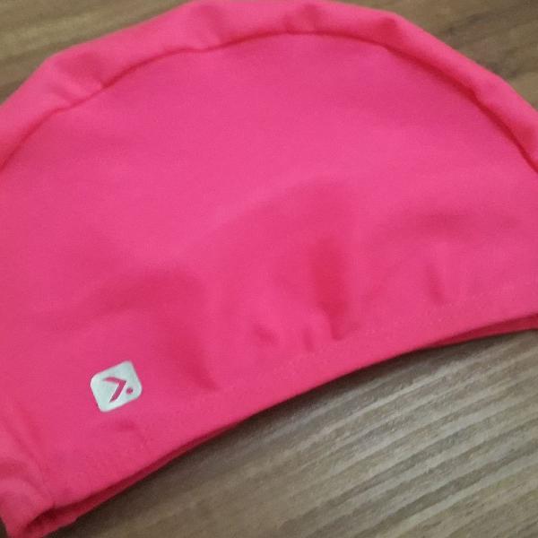 Touca para natação infantil rosa nova