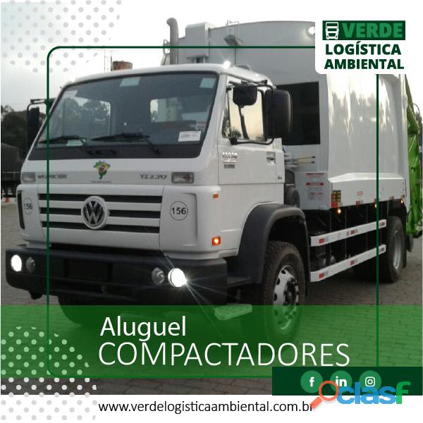 Aluguel de caminhões compactadores   caminhão de lixo