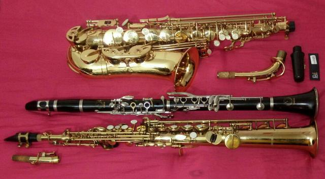 Aulas de saxofone e clarinete