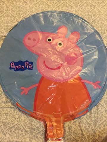 Balões metalizados peppa pig