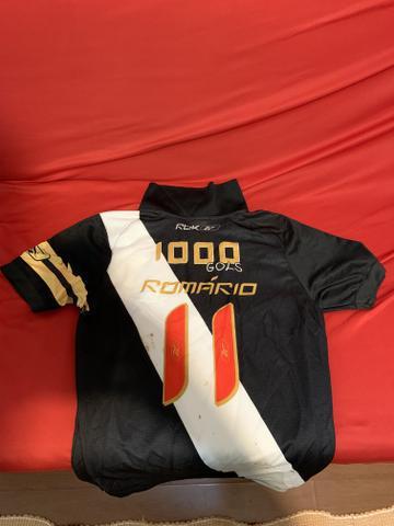 Camisa vasco romario 1000 gols/ tamanho p/m/g unissex