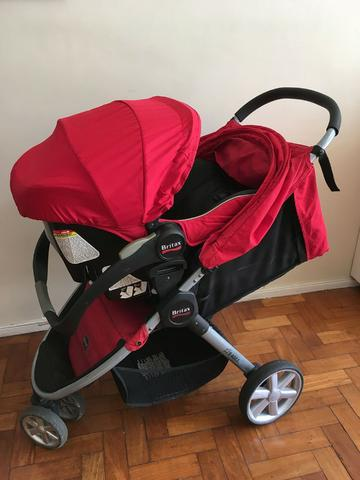 Carrinho de bebe britax b-agile + bebe conforto b-safe