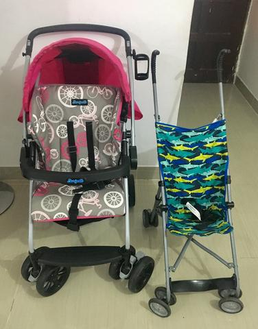 Carrinho de bebê burigoto e carrinho de passeio