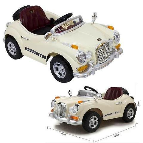 Carro elétrico infantil mini rolls royce retrô 12v