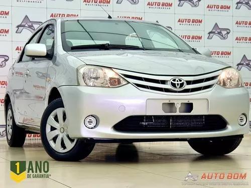 Etios sedan xs sedan 1.5 c/ bancos de couro! completo! 2013