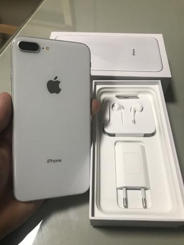 Iphone 8 plus branco / garantia até fevereiro 2020 /