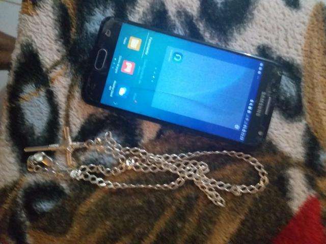 J5 prime mais colar de prata mais de 70 cm