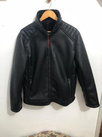 Linda jaqueta de couro - importada