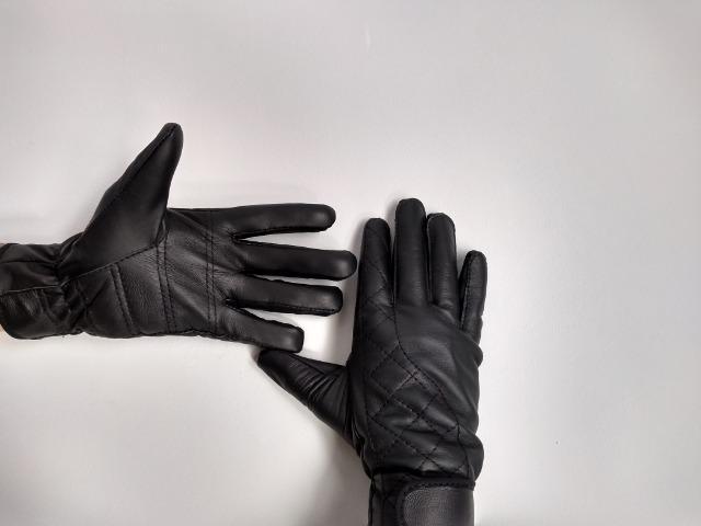 Luvas de couro legítimo para motoqueiro