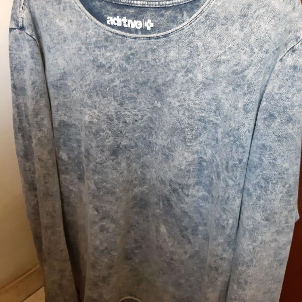 Pullover em algodão na cor azul