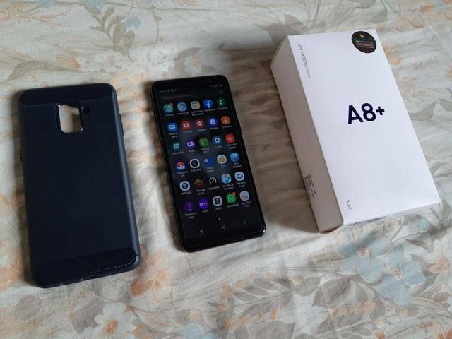 Samsung a8+ impecável 100%