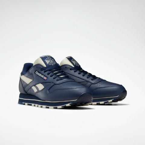 Tenis reebok classic leather mu azul novo tamanho 40