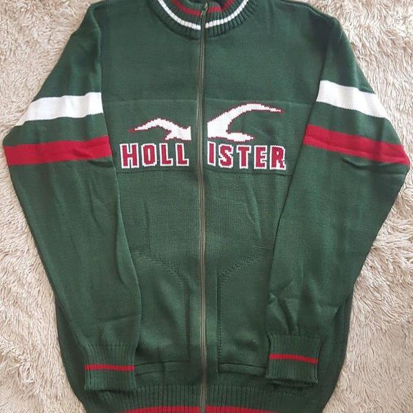 blusa da hollister de lã verde original tam m e g