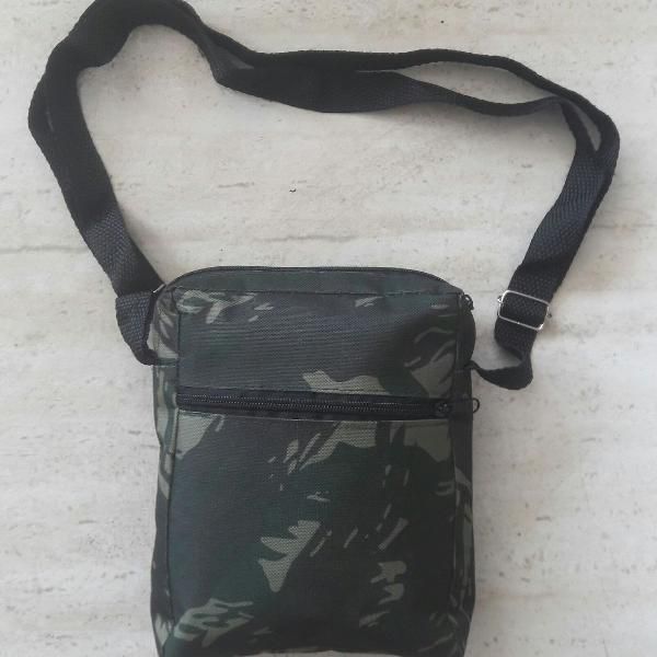 Bolsa de ombro transversal shoulder bag camo verde