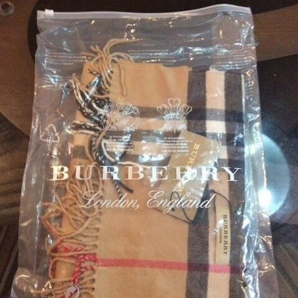 Cachecol clássico unissex cashmere lã burberry