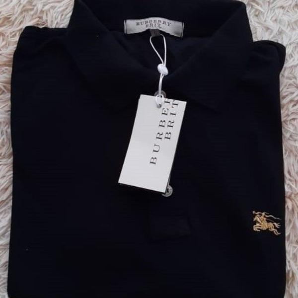 Camisa gola polo burberry masculino cor; preto, tamanho: g