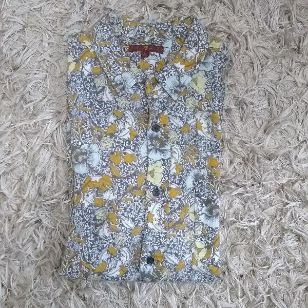Camisa linho floral