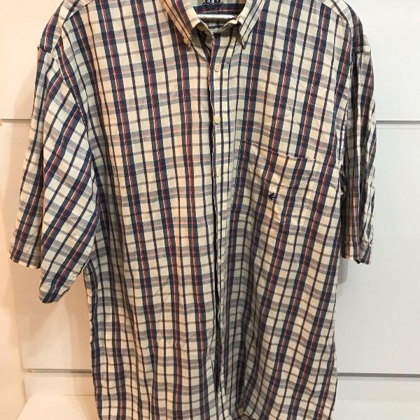 Camisa manga curta brooksfield xadrez tamanho 5