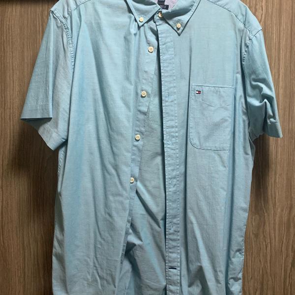 Camisa tommy hilfiger verde clara xl original