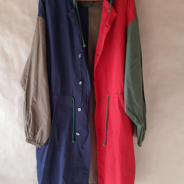 Casaco trench coat parka vintage retro fashion