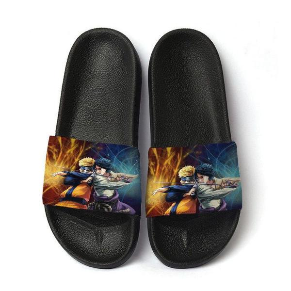 Chinelo slide sandalia masculina estampa naruto
