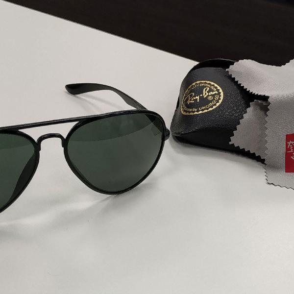 Culos de sol ray-ban aviator clássico preto - original