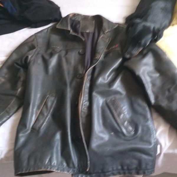 Jaqueta couro original masculino tamanho m