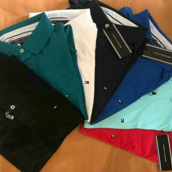 Kit 5 gola polo tommy hilfiger lacoste polo ralph lauren