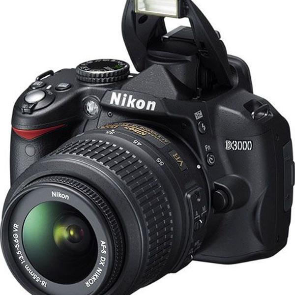 Nikon d3000 câmera profissional dslr