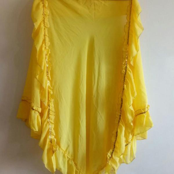 Xale amarelo dança cigana