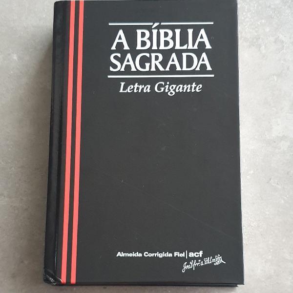 A bíblia sagrada letra gigante acf