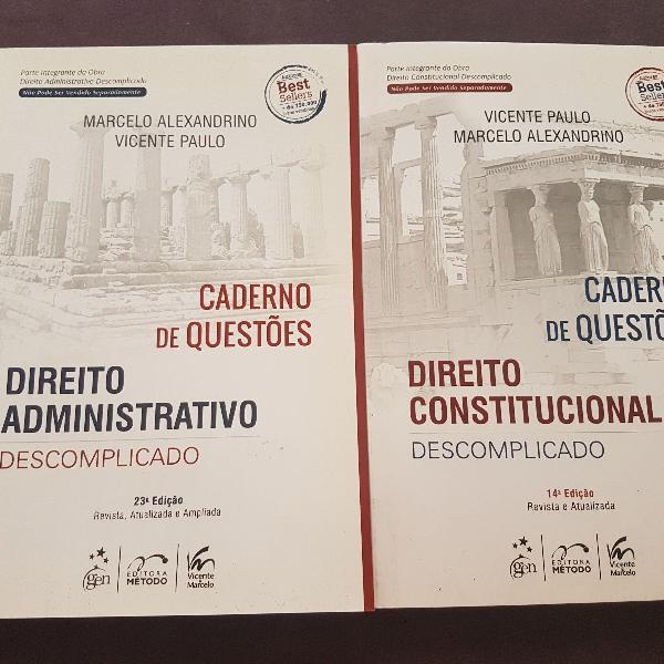 Dois cadernos de questões direito administrativo e