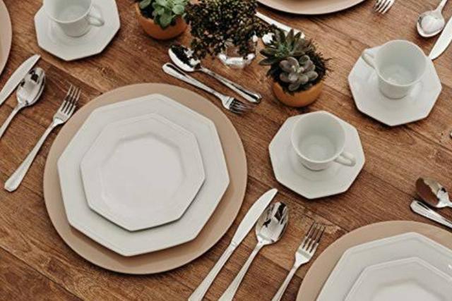 Jogo de jantar 12 peças porcelana shimidt