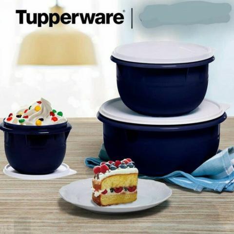 Kit tigela batedeira 3 peças tupperware