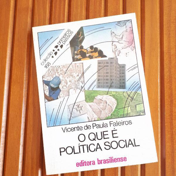 """LIVRO """"O QUE É POLÍTICA SOCIAL"""""""