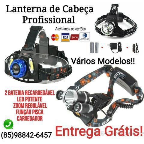 Lanterna de cabeça profissional + garantia e entrega